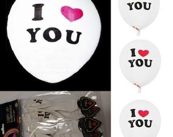 I Love You Light Up Balloon White 10 PC LED 10pcs Helium Float Wedding Bridal Anniversary