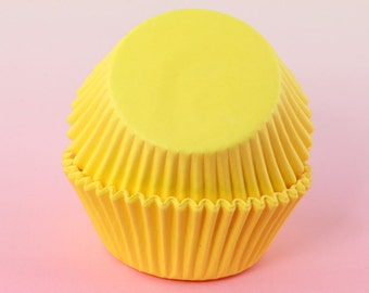 Yellow Cupcake Paper Liners 2'' Standard Size, Muffins, Baking Cups Bulk