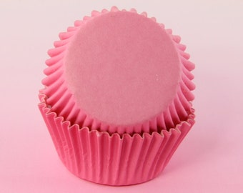 Pink Cupcake Muffin Liners 2'' Standard Size, Baking Cups Bulk