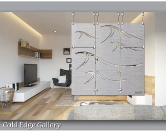 Large Silver Modern Metal Wall Clock Modern Metal Wall Art
