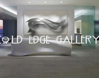 ba2cfd8de013 Large Metal Wall Art, Corporate Wall Art, Extra Large Wall Sculpture, Decor,  Abstract, Contemporary, Modern, Sculpture, Ocean Breeze