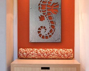 Seahorse Wall Art, Metal Wall Art, Sea Life Art, Ocean Art, Seahorse Metal Wall Art