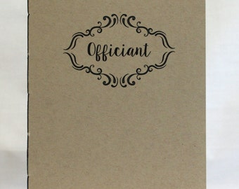 Officiant Journal, Officiant's Booklet *  Minister's Booklet * Personalize/Customize