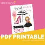 Hey Girl Printable Bible Journaling, Margin Stickers, Bookmarks, Sticker Printable