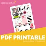 FearlessPrintable, Digital Bible Journaling, Margin Stickers, Bookmarks, Sticker Printable