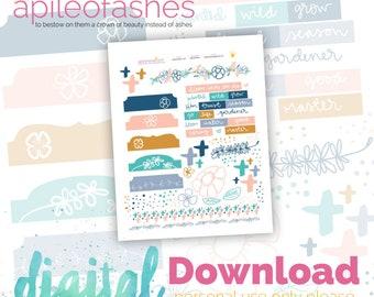 Flowers Bible Journaling Digital Download Printable