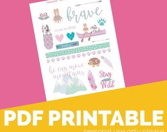 Move Mountains  Printable Bible Journaling, Margin Stickers, Bookmarks, Sticker Printable