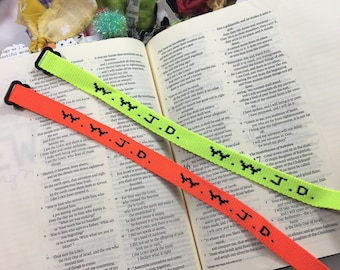Neon Orange- Wwjd Bracelet, Bible Journaling, Bookmark