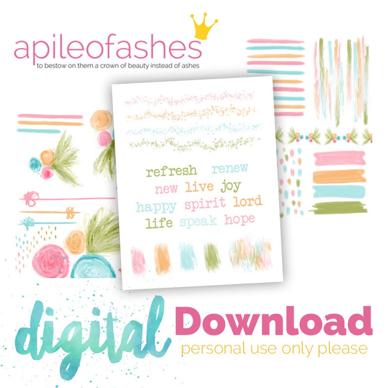 Sweet Spring Digital Download Printable Bible Journaling image 0