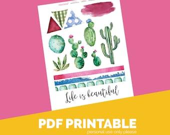 Desert Mess Download Printable Bible Journaling, Margin Stickers, Bookmarks, Sticker Printable