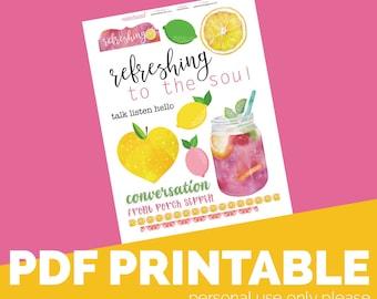 Refreshing Printable Bible Journaling, Margin Stickers, Bookmarks, Sticker Printable