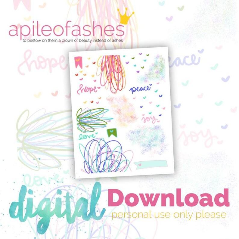 HPJL Doodles Digital Download Printable Bible Journaling image 0