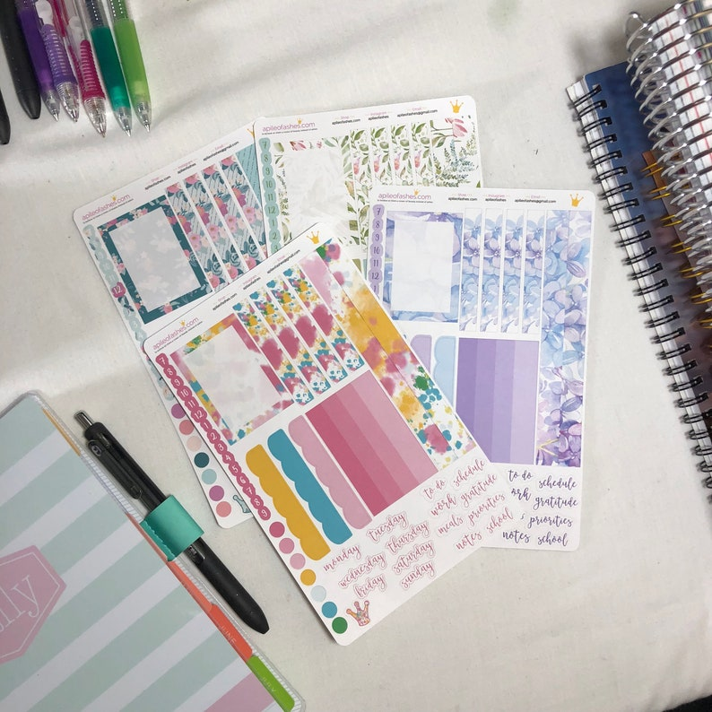 A5 Daily Sets Plum Paper Planner Planner Stickers image 0