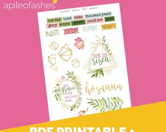 GoldenDreams Deco Printable Bible Journaling, Margin Stickers, Bookmarks, Sticker Printable