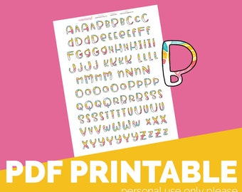 Glory Alpha Printable Bible Journaling, Margin Stickers, Bookmarks, Sticker Printable