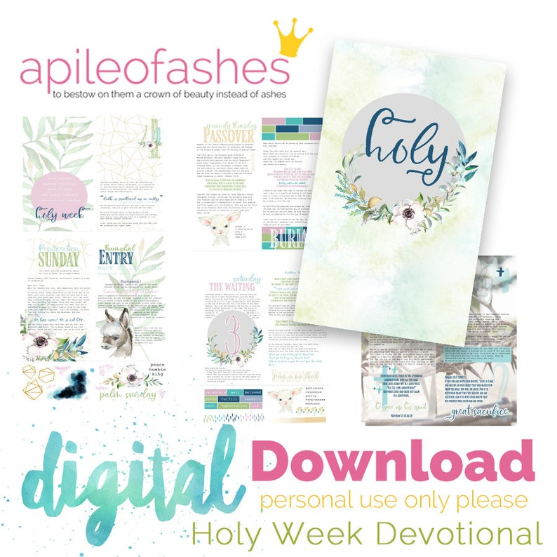 Holy Week Easter Devotional Bible Journaling Digital Download image 0