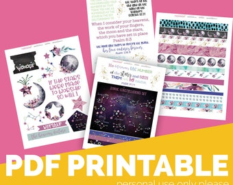 So Will I  Printable Bible Journaling, Margin Stickers, Bookmarks, Sticker Printable