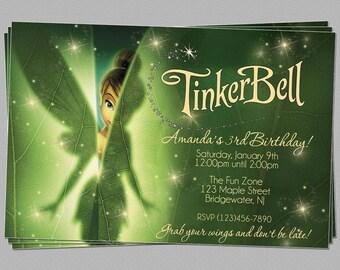 Tinkerbell invitation etsy custom tinkerbell fairies birthday party invitations diy printable file solutioingenieria Choice Image