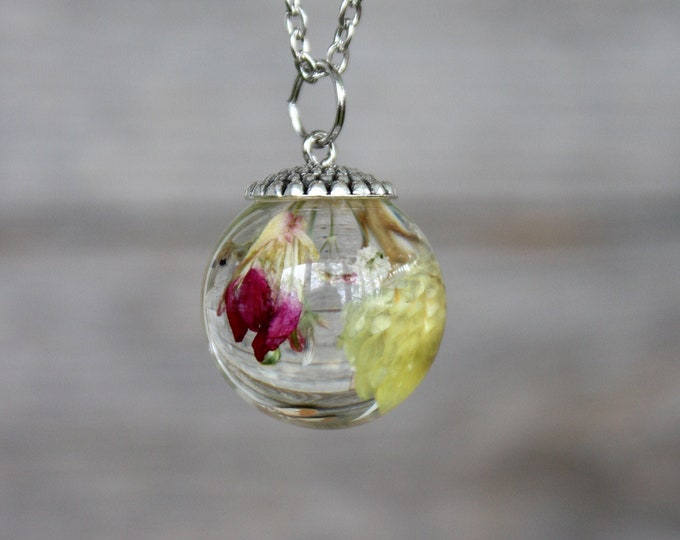 Pink and Yellow Flower Bundle Necklace