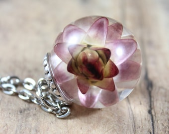 Medium Strawflower Necklace