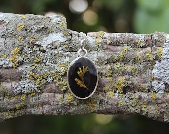 Goldenrod Dainty Oval Necklace