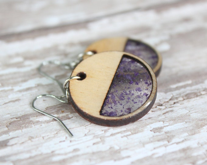 Purple Circle Earring