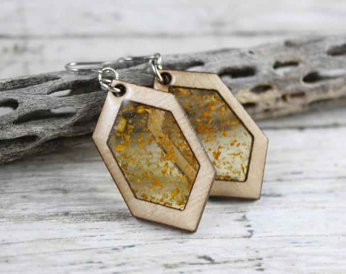 Yellow Diamond Dangle Earring