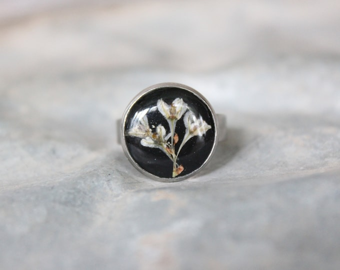 Silver Lace Vine Adjustable Ring