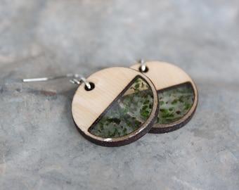 Green Circle Earring
