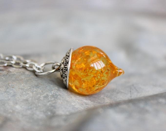 Sunflower Drop Necklace