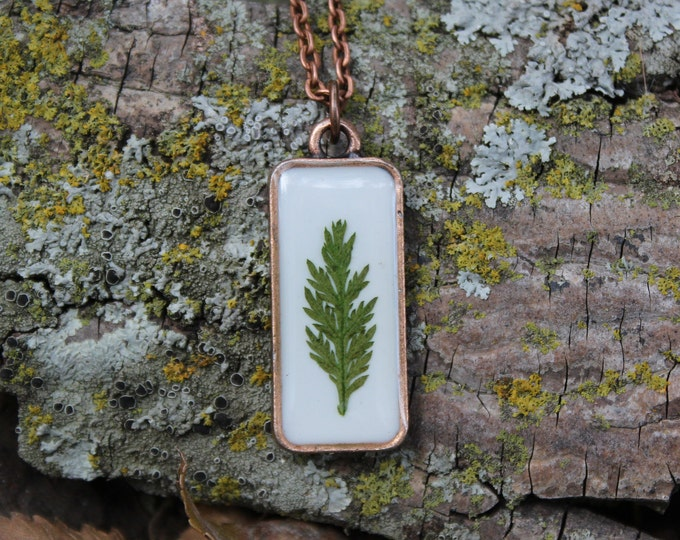 Fern leaf Copper Necklace 1