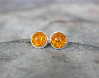 Small Sunflower Stud Earrings