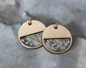 Queen Anne's Lace Circle Earring