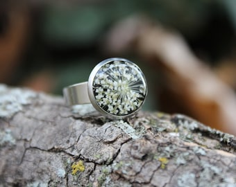 Queen Anne's Lace Adjustable Ring