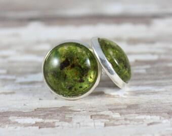 Real Moss Stud Earrings