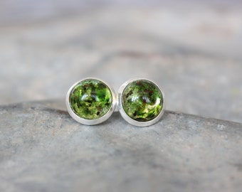 Small Moss Stud Earrings