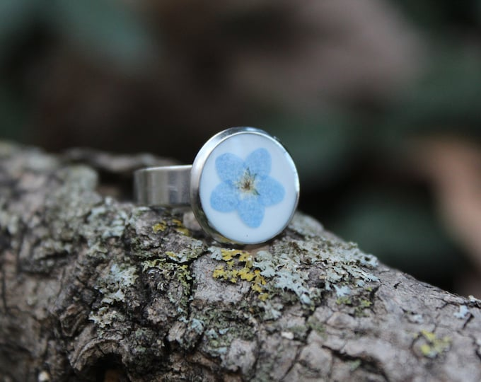 Forget Me Not Adjustable Ring