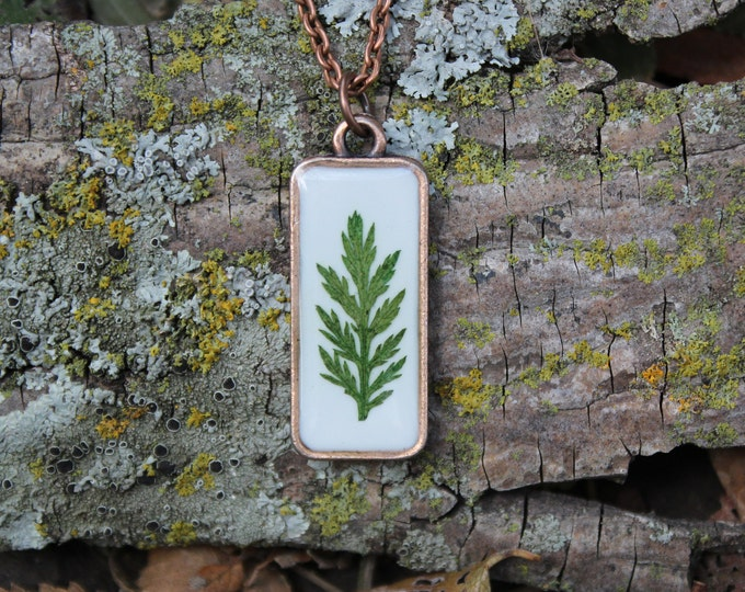 Fern leaf Copper Necklace 2