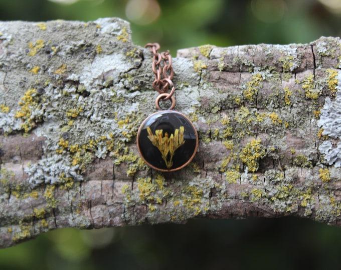 Tiny Copper Goldenrod Necklace
