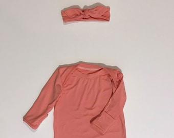 Pink Sleeper Gown