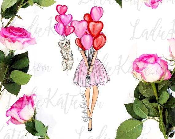 dog valentine, dog mom, valentines day, galentine's day, furbaby, shih tzu, maltese, golden retriever, doodle, pug, maltipoo, frenchie