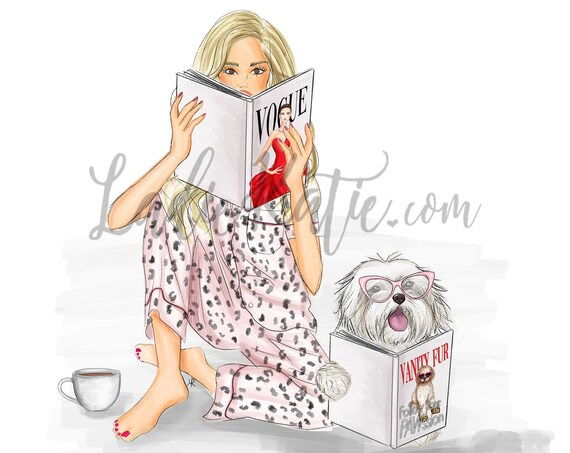 Dog mom, dog lover illustration, dog lover art, maltese, dog illustration, shih tzu, best friend, gifts for her, dog lover gift