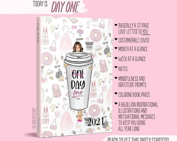 Custom planner, Inspirational planner, 2021 planner, motivational planner, Girl Boss calendar, boss calendar, boss planner, girly calendar,