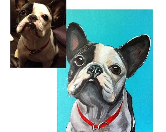 Custom Pet Portrait, Pet Painting, Dog Portrait, custom painting, gifts for Dog lovers, dog painting, cat painting, gifts for her, dog lover