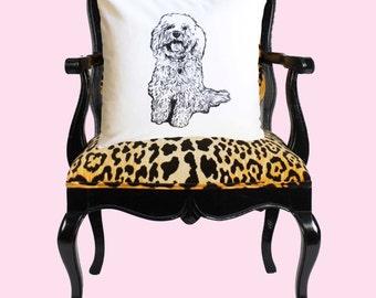 Custom Pet Portrait Pillow, Pet Pillow, Dog Portrait Pillow, custom pillow, dog pillow, dog portrait, pooch pillow, dog lover pillow