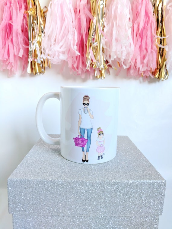 Mom mug, Mother's Day, mommy and me mug, mother daughter mug, mom Art, custom mug, gifts for mom, gifts for her, mother daughter