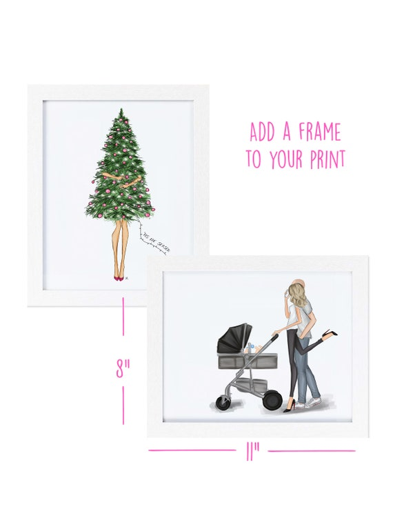 Add a frame to your Ladie Katie watercolor, illustration or print order