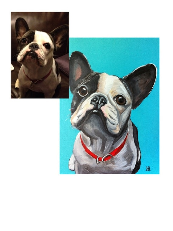 Custom Pet Portrait, Pet Painting, Dog Portrait, custom painting, gifts for Dog lovers, dog painting, cat painting, gifts for her, dog lover