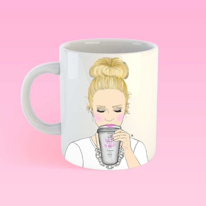 GIRLBOSS mug personalized mug girl boss mug coffee lover image 0