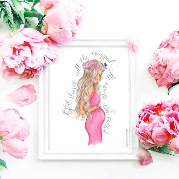 New mom, nursery art, nursery print, pregnant, mommy and me, girly art, girly print, mom print, mother daughter, mother's day, gifts for her